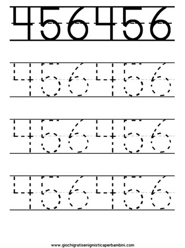 Pregrafismo Impara A Scrivere I Numeri Schede Didattiche Per La